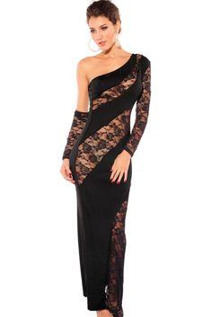 Chicloth Glamorous Diva Evening Dress Black