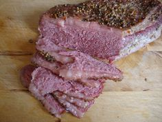 Tender Corned Beef Brisket baked in oven