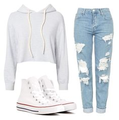 """""""Untitled #8"""" by emilydawnwilson on Polyvore featuring Monrow, Topshop and Converse"""