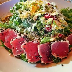 #healthyfood Fresh salad with seared ahi tuna... #nom #healthyliving #healthylifestyle #fitness #fitfood #workout #healthylivingjunkie #foodie #nomnomnom  #fitness #fitfam #fitfoods #fitfoods #healthyfoodporn #workout #fitchick #foodisfuel #foodislife #instafood #instadaily #healthylifestyle #food