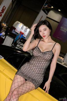 Song Ju Ah black outfit #koreanmodel #koreanbeauty #koreanfashion #model #beauty #fashion Sexy Bikini, Bikini Girls, Korean Girl, Asian Girl, Fishnet Dress, Womens Workout Outfits, Korean Model, Model Pictures, Sexy Curves