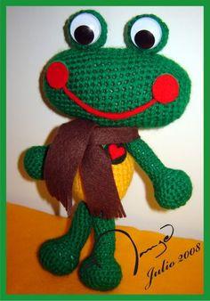 Amigurumi Happy Frog - free crochet pattern