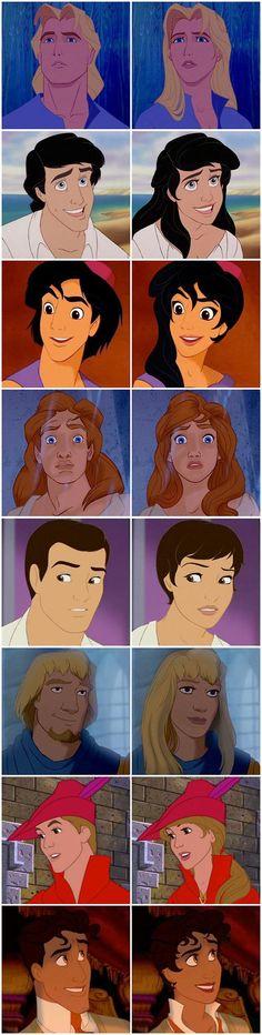 Princes become princesses!