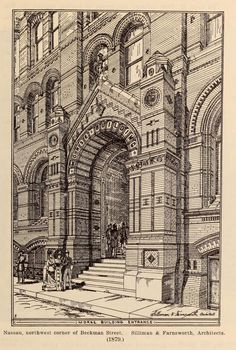 The entrance of the Morse Building, New York City