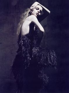 Kim Noorda wearing Nina Ricci by Olivier Theyskens, by Mario Sorrenti