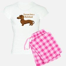 Everyone Loves A Dachshund Pajamas for Dachshund Gifts d0492e5ed