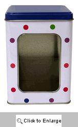 New - Tall Cube Tin with Window Confetti (6 tins) - Item # 092207