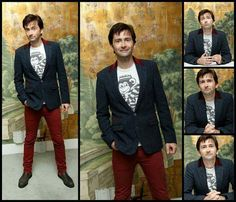 David Tennant at the Jessica Jones wrap party. July 25, 2015 PS. Love the outfit!