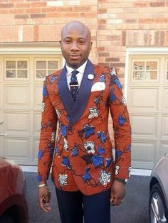 African print doubled breasted blazer