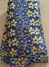 2016 neueste Französisch Nigerian Schnürsenkel Stoffe Hochwertige Tüll Afrikanischen Schnürsenkel Stoff Hochzeit Afrikanische Französisch Tüll ELL2916 BLAU(China (Mainland))