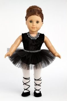 Black Swan - Black Ballerina Outfit Includes Leotard, Tutu, Tights and Ballet Shoes - American Girl Doll Clothes Price : $23.97 http://www.dreamworldcollections.com/Black-Swan-Ballerina-Includes-American/dp/B005DO1KA2