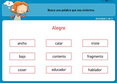 aLeXduv3: Sinónimos interactivos