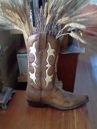Western boot flower arrangement