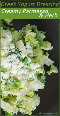 Greek Yogurt Salad Dressing: Creamy Parmesan Herb. This dressing is SO easy to make and tastes amazing.