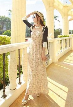 tube chiffon bohemian dress