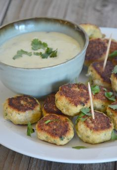 Chicken Taco Meatballs with Queso Blanco Dip