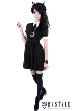 Killstar gothique goth occultisme Punk Mini-robe Skater Robe-Magi Pentagramme