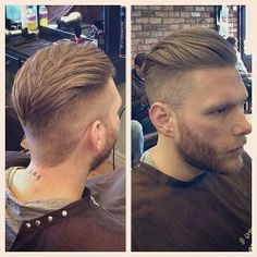 Great cut for a beard of any length. Barber faded but didn't disconnect from the beard with a skin fade. Probably grow in real nice too.
