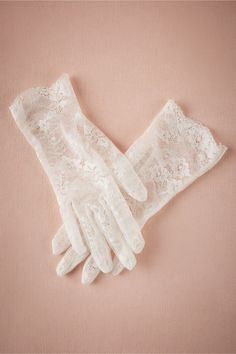 winter wedding lace | Pippa Gloves from BHLDN