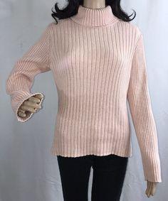 Lady Wool Blend Sweater Fut Knitwear Turtleneck Fury Jumper Soft Warm Winter Top