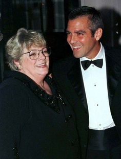 George Clooney and his aunt, Rosemary Clooney / Rosemary's children's albums were my favorite growing up! LOVED Rosemary!