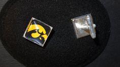 University of Iowa Hawkeye Cufflinks by BrunosBling on Etsy, $12.00