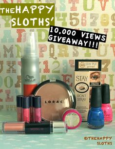 ENTER TO WIN: The Happy Sloths 10,000 Views Readers Appreciation Giveaway!  Canadian Residents ONLY. http://thehappysloths.blogspot.ca/2013/03/the-happy-sloths-10000-views-readers.html