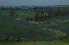 "| Rose Frantzen | Landscapes ""Bean Field Study"", oil"