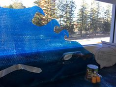beach view - Plastic Free July art installation displayed at Manly Sea-Life