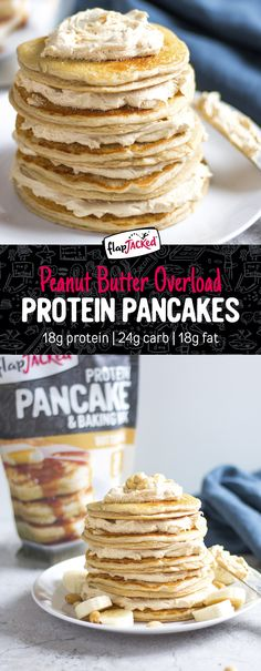 Peanut butter lovers, you'll go crazy over this mouth-watering stack of protein pancakes! It's the perfect fix for anyone who is craving peanut butter, or a little extra protein in their diet ;) These pancakes are sure to leave you feeling satisfied and ready to take on the day!
