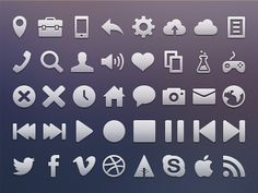 Dribbble - Vicons (Free icons) by Victor Erixon