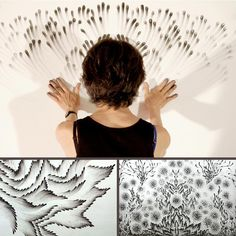 Painting with finger tips by Judith Ann Braun