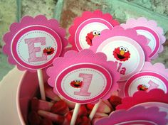 Pink cupcake toppers $15/2 dz.  Wonder where to get the pink candy corns.......