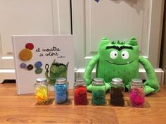 "MAMÁ MOLONA: Actividad molona con ""El monstruo de colores"" de Anna Llenas - Emociones Educational Activities For Kids, Spanish Activities, Book Activities, All About Me Eyfs, Spanish Colors, Monster Book Of Monsters, Mindfulness For Kids, Montessori Classroom, Color Games"