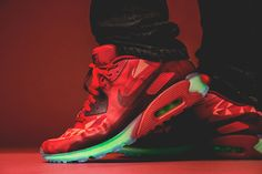Nike Air Max 90 ICE Red & Neon (Detailed Pictures)