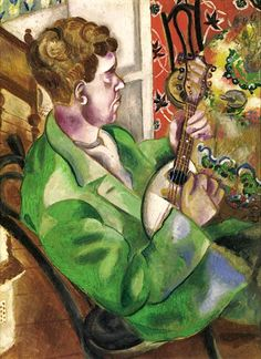 Marc Chagall ~ The Mandolin Player (David, the Artist's Brother), 1914-15