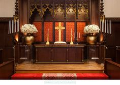 Our Chancel area is perfect for a small intimate wedding party. Beverly Hills Wedding