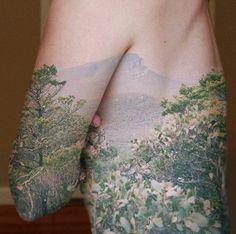 Nature scene tattoo