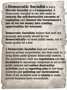 Democratic Socialist::Defined