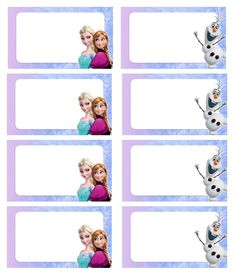 Free Frozen Party Printables - One Charming Day Party Food Label Template, Party Food Labels, Party Printables, Frozen Themed Birthday Party, Frozen Birthday Party, Frozen Classroom, School Name Labels, Festa Frozen Fever, Frozen Party Favors
