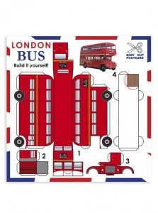 Postal recortable Bus Londres » Recortables » PAPETI
