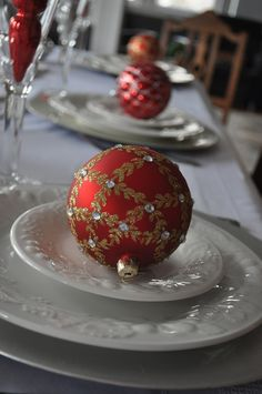 #Easy #Christmas #table #setting #placesetting