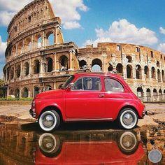 Een #fiat500 in Rome