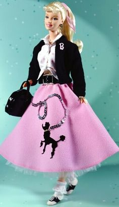50s doll , ❤ the poodle skirts it was usually a outfit used by teenage girls
