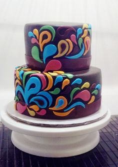 Paisley cake, round 2 By MJTKNT on CakeCentral.com