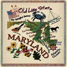 symbols of maryland | marylandthingslapsquare.jpg (79681 bytes); maybe put this on a totebag