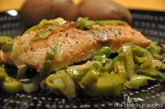 Due bionde in cucina: Salmone con porri