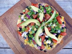 Black Bean, Corn and Avocado Fiesta Pizza