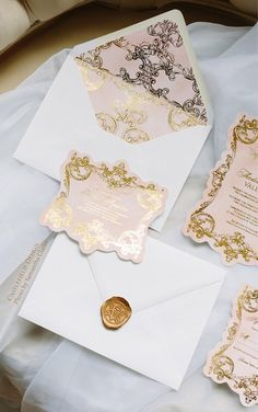 Castlefield Pink Gold Baroque Rococo Flourishes Wedding Event