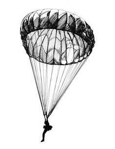 parachute line drawing - Google Search